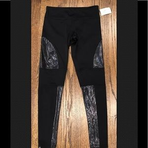 Onzie Moto Sparkle mesh leggings size M/L New yoga